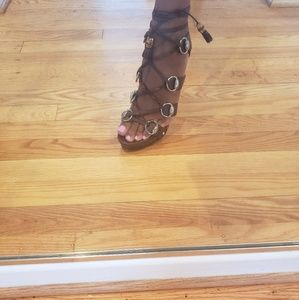Gucci Shoes - Gucci Lace-up Heels